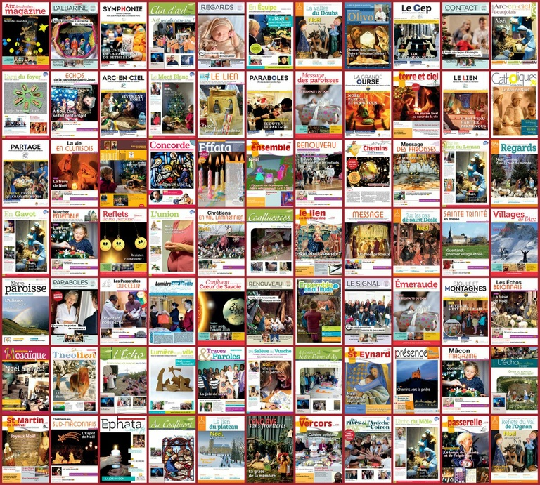 77 couvertures des numéros d'hiver - Noël 2017
